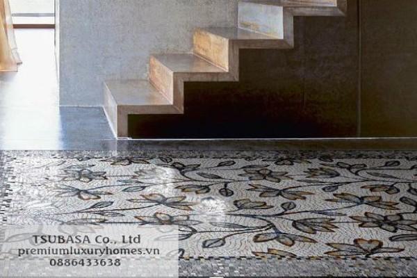 Trang điểm không gian lộng lẫy với các mẫu gạch mosaic cao cấp
